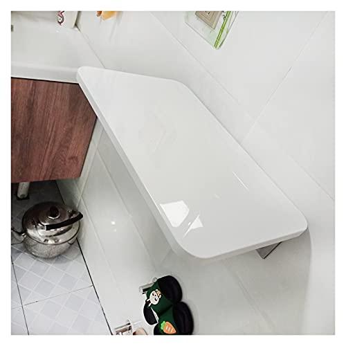 ZWYSL Escritorio De Pared Plegable, Escritorio Flotante, Estable Robusto para Dormitorio, Balcón, Cocina Mesa Plegable, Blanco 12 Tamaños (Color : A, Size : 120×40cm)