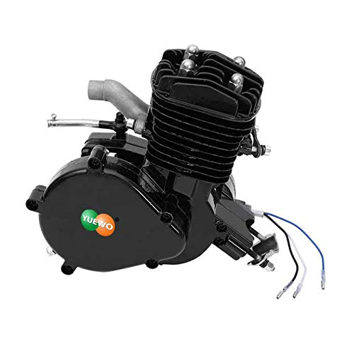 YUEWO 80cc 2-Stroke High-Performance Racing Single Cylinder Engine Motor for Motorized Bicycle (black)