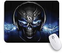 VAMIX マウスパッド 個性的 おしゃれ 柔軟 かわいい ゴム製裏面 ゲーミングマウスパッド PC ノートパソコン オフィス用 デスクマット 滑り止め 耐久性が良い おもしろいパターン (スカルDJ)