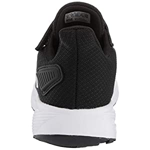 adidas Unisex-Kid's Duramo 9 Running Shoe, Black/White/Black, 4