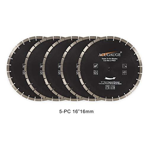 5-PC 16 concrete saw blade large 16mm segment Diamond blade for cutting Asphalt, Brick, Block, Pavers, Masonry, etc.