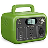 BLUETTI AC30 Portable Power Station 300Wh 300Watt LiFePO4 Backup Battery Two 110V Pure Sine Wave AC Outlets, Four DC Outlets Solar Generator for Home Outdoor Camping RV Emergency Use (Green)