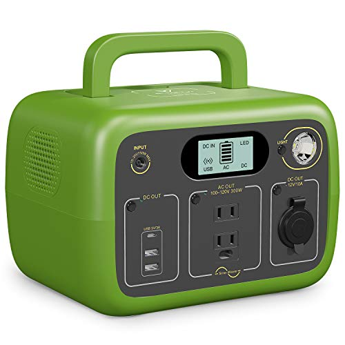 BLUETTI AC30 Portable Power Station 300Wh LiFePO4 Solar Generator, 300W Inverter 2 110V Pure Sine Wave AC Outlets, 1 Type-C 2 USB-A 1 DC 12V/10A Outlets for Home Emergency Use Outdoor (Green)