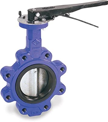 "Smith-Cooper International 160 Series Iron Butterfly Valve, Lug Style, Nickel Plated Ductile Iron Disc, EPDM Seat, Lever Handle, 2-1/2"" from Smith-Cooper International"