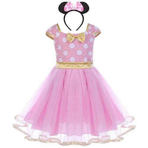 Traje Princesa Fiesta Minnie Vestido Bautizo para Bebés Niñas Ropa Recien Nacido Infantil Tutú Ballet Lunares Fantasía Carnaval Bautizo Cumpleaños Baile Comunión Vintage Ceremonia Aniversario Regalo