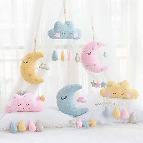 SHOUTAOS Aufhängbaren Algen Kissen Mond Wolke Kissen Plüschtiere Gestopft Kissen...