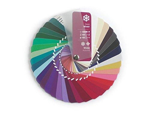 Farbpass Winter-Herbst (Deep Winter) als kleiner Fächer mit 35 typgerechten Farben zur Farbanalyse, Farbberatung, Stilberatung
