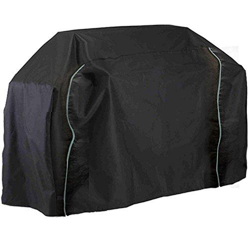 Edenstar Groß Passend Qualität Grill Abdeckung 2 X Reißverschlüsse, Elastischer Saum Grill Wasserdicht & Atmungsaktiv Schutz Dual Kapuze - Schwarz, Large 120cm High BBQ Cover