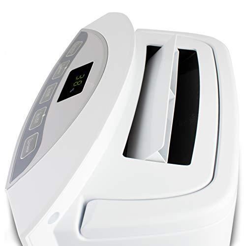 SUNTEC Déshumidificateur Electrique DryFix 20 Design Silencieux / Pour des pièces jusqu'à 150 m³ ~65 m², capacité de déshumidification=20l/jour, fonction de purification d'air, sèche linge, 370 watts
