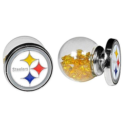 NFL Siskiyou Sports Fan Shop Pittsburgh Steelers Front/Back Earrings One Size Team Color