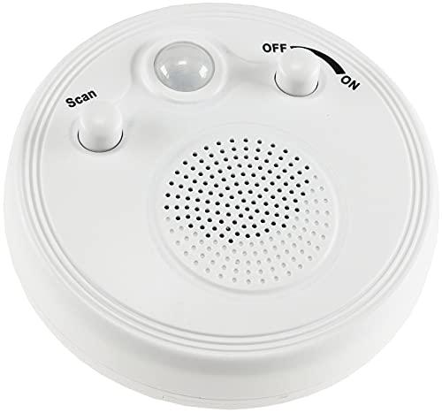 Radio mit Bewegungsmelder 360° Sensor Ø 95mm Batterie 3x AA Montage an Wand & Decke Weiß