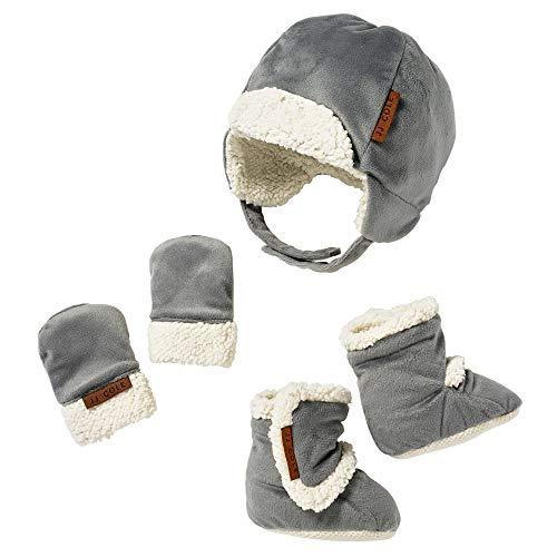 JJ Cole Bomber Hat Set Graphite, Gray