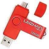 LEIZHAN 64GB OTG Flash Drive Micro Pen Drive Cell Phone Pendrive USB 2.0 Memory Stick for Samsung Galaxy, Xiaomi,LG,Sony, One-Plus,HTC, Meizu Red