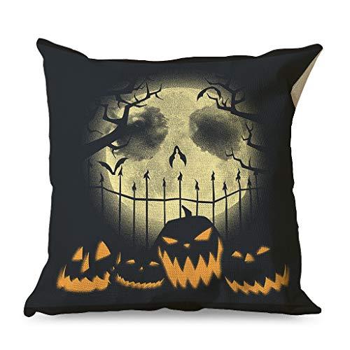 Generic Branded Fantasy Halloween antes de Navidad, pesadillas, funda de cojín cuadrada clásica para dormitorio