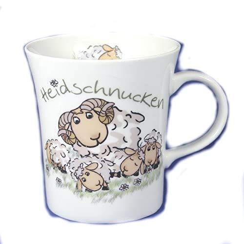 magicaldeco 2 Stück- Porzellan- Tasse, Kaffeepott, Becher - Heidschnucken Lüneburg - Schafe -deutsches Produktdesign