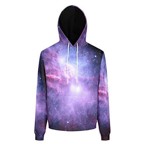 Charzee paars kamer druk heren hoodie sweatshirts lange mouwen universum persoonlijkheid top trui drawstring tassen