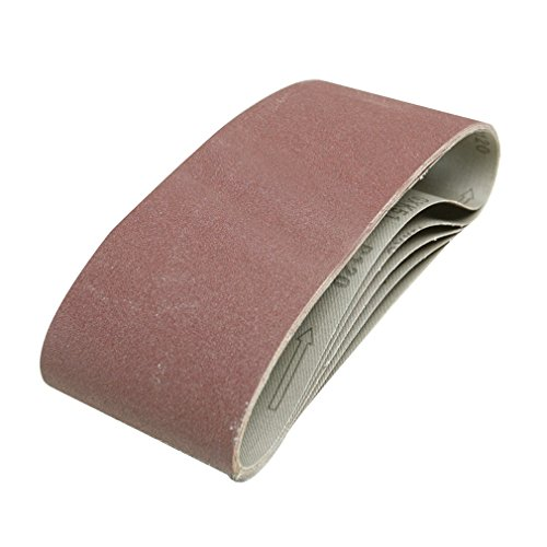 Silverline 730880 5 bandes abrasives 100 x 610 mm Grain 40