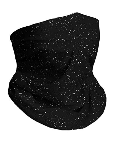 Into the AM Black - Paint Splatter Neck Gaiter Face Scarf Mask Bandana Gator