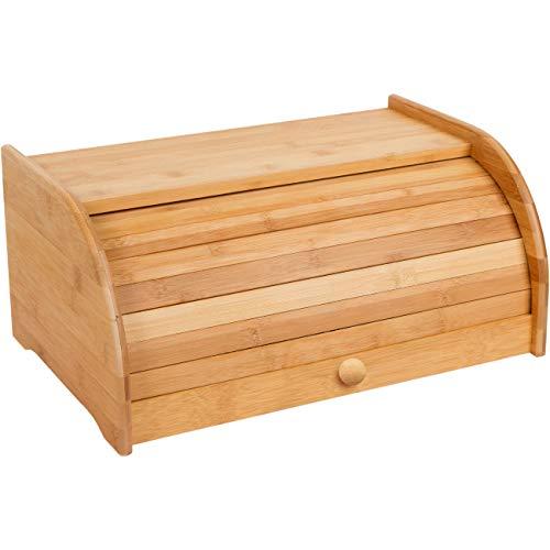 16' Rolltop Bamboo Bread Box By Trademark Innovations