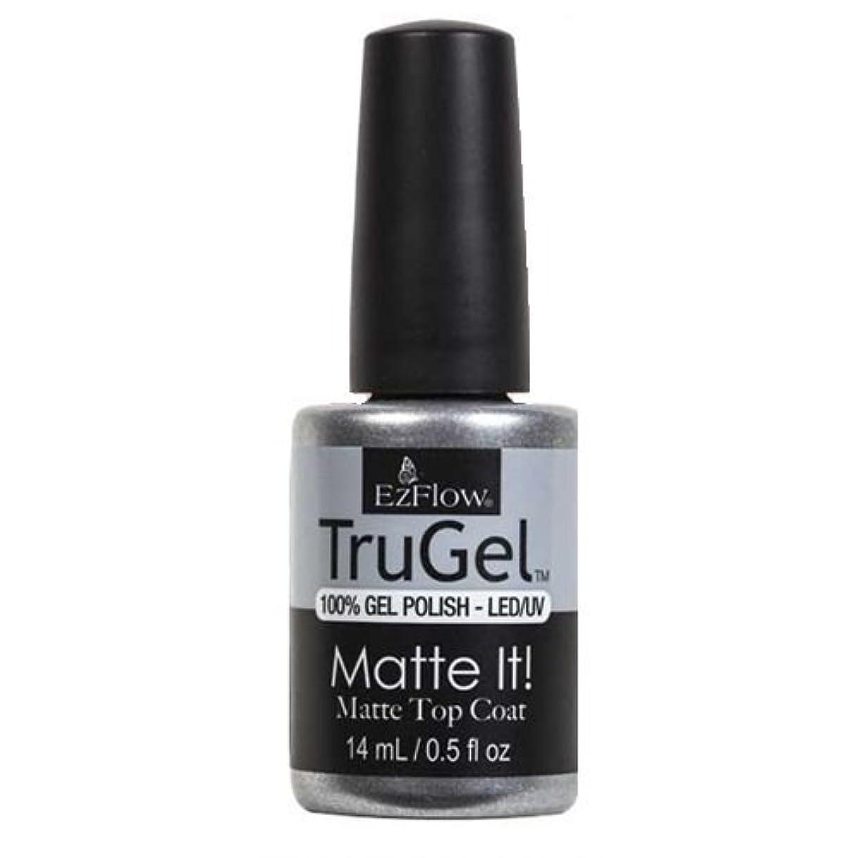 成果ネイティブおとなしいEzFlow TruGel Gel Polish - Matte It! Top Coat - 0.5oz / 14ml
