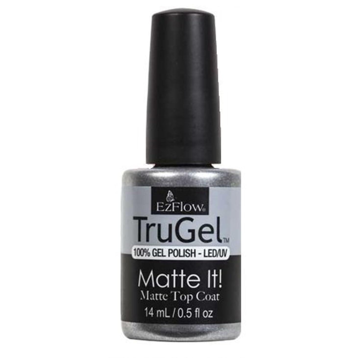 飛行場説得乙女EzFlow TruGel Gel Polish - Matte It! Top Coat - 0.5oz / 14ml