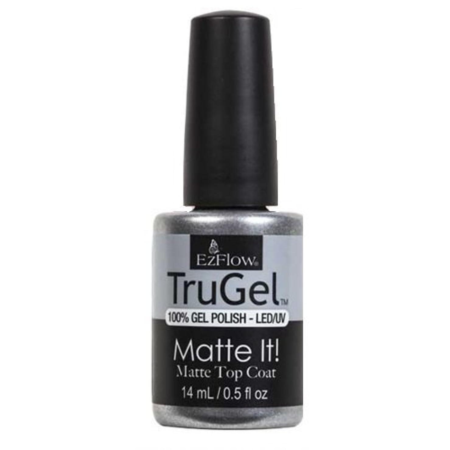 破壊的変形サミュエルEzFlow TruGel Gel Polish - Matte It! Top Coat - 0.5oz / 14ml