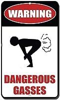 警告危険なガスの目新しさ面白い金属看板