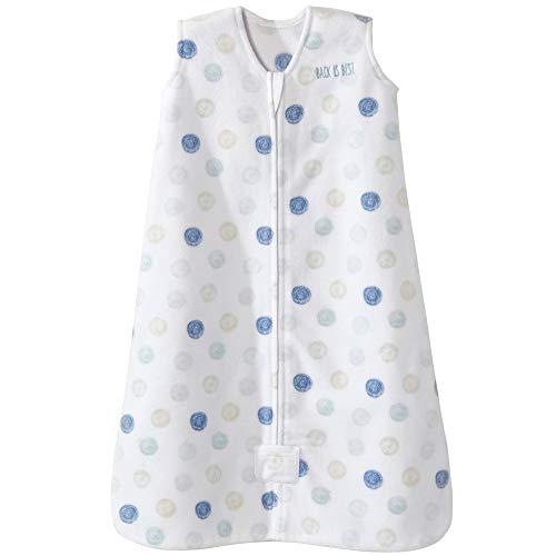 HALO Sleepsack Microfleece Wearable Blanket, TOG 1.0, Swirl Circles Blue, Small