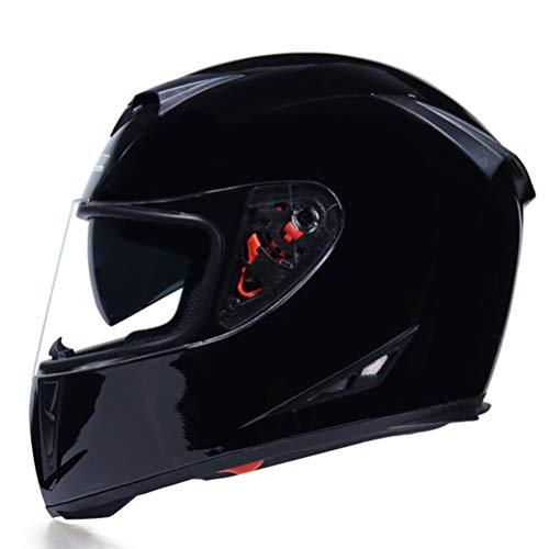 Casco integral de motocicleta Casco de motocicleta de fibra de carbono Uso de todas las estaciones Moto Casco Doble Len Capacete