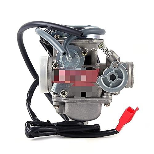WAZDV Carburador de carburador de Motocicletas con Choke eléctrico Scooter ciclomotor GY6 125 GY6 150 152QMI 1P52QMI 157MJ 1P57QMJ (Color : PD30J)