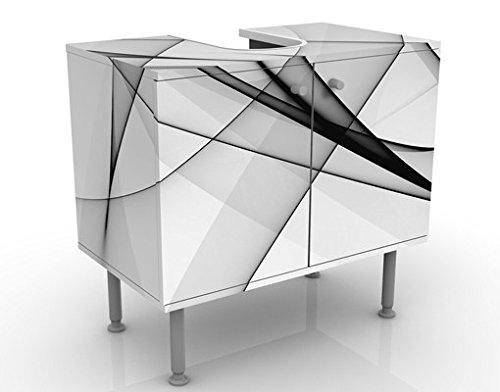 Meuble sous Vasque Design Vibration 60x55x35cm, Petit, 60 cm de Large, réglable, Table de lavabo, Armoire de lavabo, lavabo, Meuble Bas, Baignoire, Salle de Bains, Armoire de Salle Bains
