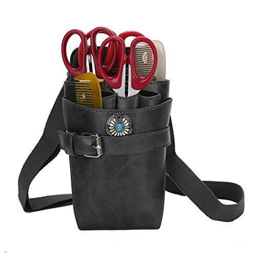 Tijeras para el cabello Bolsa para tijeras Tijeras Riñonera Profesional Retro Suave Peluquería Bolsa para herramientas Estuches para peluquero Suave y duradera Ligero y compacto Gran espacio