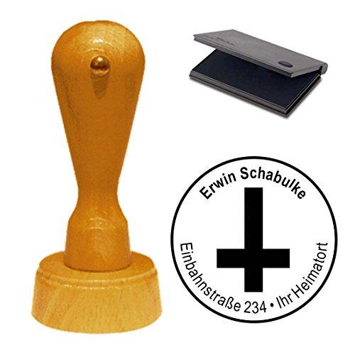 Sello con cojín « Cruz satanismo » sello de direcciones Empresas Sellos ocultismo