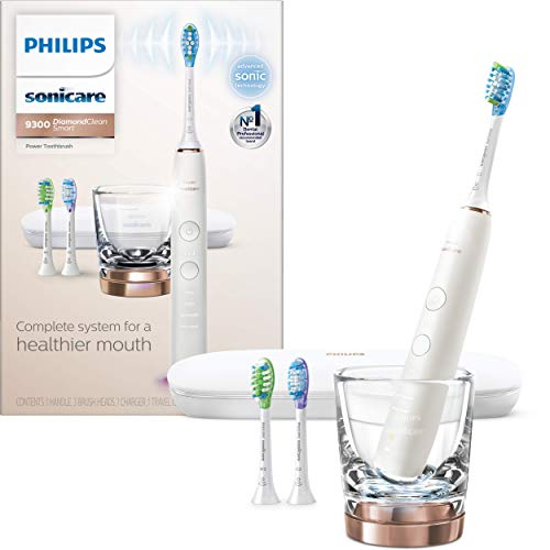 Philips Sonicare DiamondClean Smart 9300 Rechargeable Electric Toothbrush, Rose Gold HX9903/61