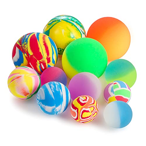 Pllieay 12PCS Bouncy Balls 3 sizes Mixed Color, Bouncing Balls and Bouncy Balls for Kids