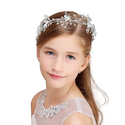 IYOU Brillante Cristal Princesa Fuente Diamante de Imitación Nupcial Pedazo de Cabello...