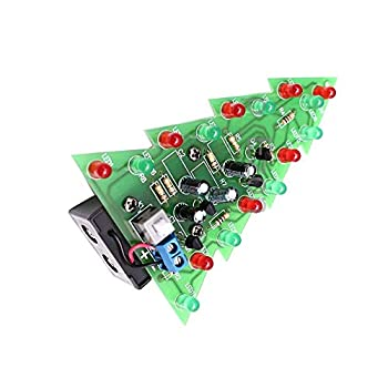 DIY Kit Electronic PCB Board Module Christmas Trees LED Circuit Red Green Flash Light Electronic Suit
