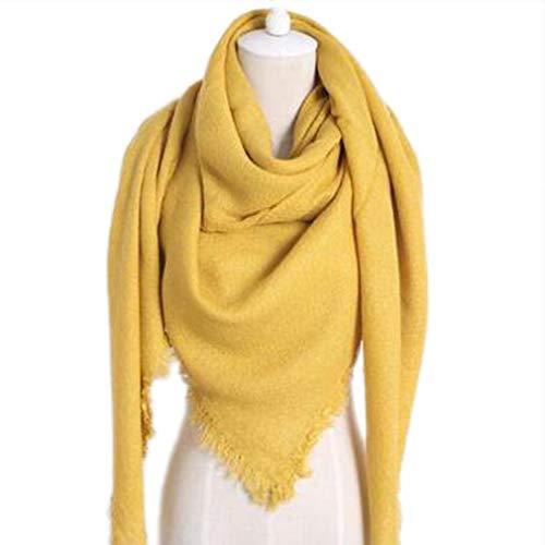 Pashmina amarillo mostaza para mujer
