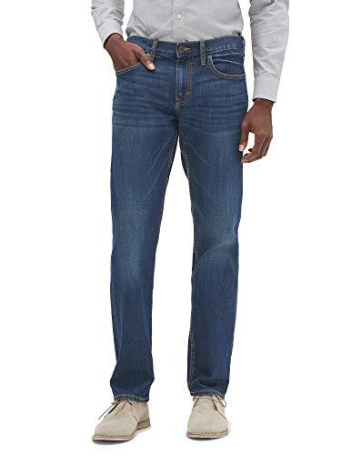 BANANA REPUBLIC Men's Straight Fit Stretch Medium Wash Jeans (38x30)