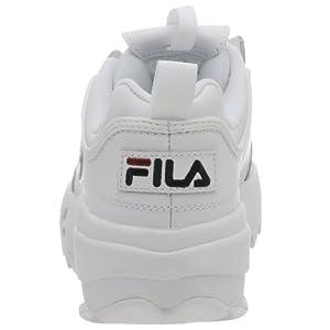 Fila mens Strada Disruptor fashion sneakers, White/Peacoat/Vinred, 9.5 US