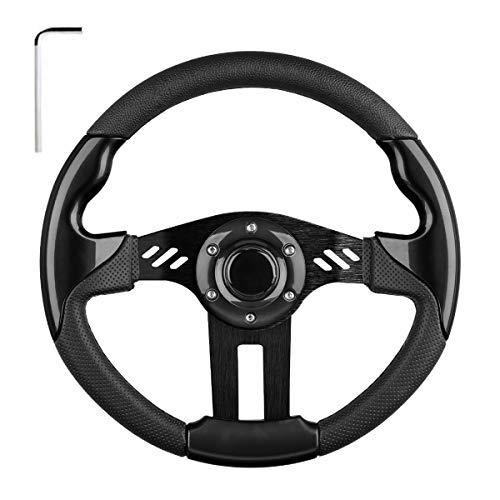 EZGO Steering Wheel Fit Golf Cart Club Car EZGO Yamaha Universal Golf Cart Steering Wheel Club Car DS and Precedent (Black Steering Wheel)