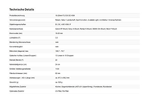 SIGMA超広角ズームレンズ10-20mmF3.5EXDCHSMニコン用APS-C専用202552