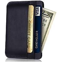 Fuinloth Slim Minimalist Leather Card Case Wallet (various colors)