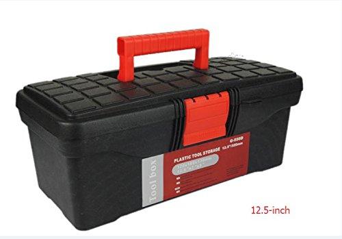 Outil de mini Boîte à outils Boîte à outils Coffer Modèle Plastique Noir Rouge 31,8 cm