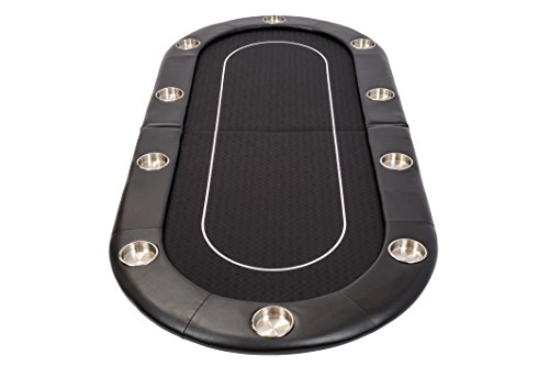 Riverboat Faltbare Pokerauflage mit Schwarzem wasserabweisenden Stoff und Tasche – Pokertisch 200cm - 4