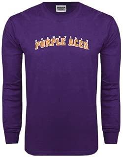Evansville Purple Long Sleeve T Shirt 'Arched Evansville Purple Aces'