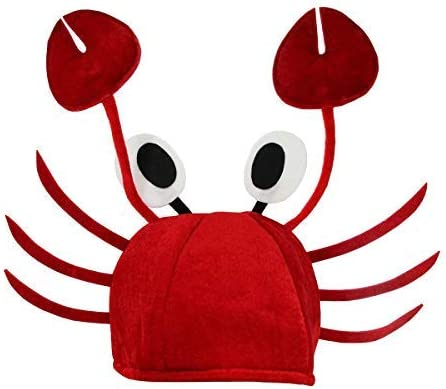 Crazy 2021 spring and summer new supreme Crab Hat - Crawfish Antenna Claws Lobster Costume Access