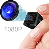 Mini Spy Camera 1080P Hidden Camera | Portable Small HD Nanny Cam with Night Vision and Motion Detection | Perfect...