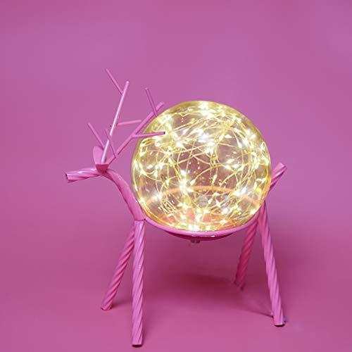 Lámpara de mesa Romántico lámpara de mesa de noche de la lámpara rota bola redonda Pantalla Con regalos de carga USB Puerto del sueño dulce de la lámpara luz de la noche de cumpleaños lámpara de mesit