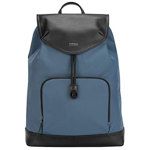 Targus Newport Drawstring Travel and Commute Backpack with Protective Storage Fit up to 15 Inch Laptop, Blue (TSB96403GL)